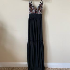 Abercrombie strappy embroidered bodice maxi #58